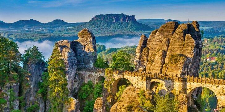 Výlet na Skalní most Bastei, Kurort Rathen v Saském Švýcarsku a Pravčickou bránu