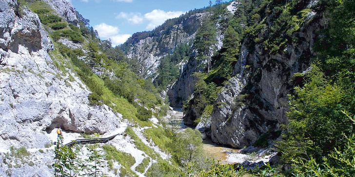 Poznávací výlet do úchvatné divoké soutěsky Hintere Tormäuer v Rakousku