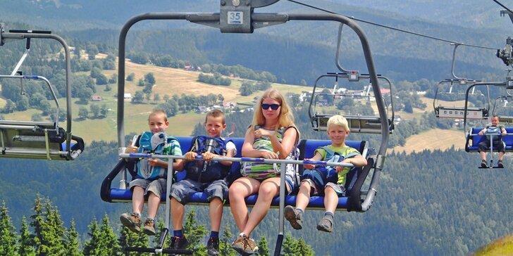 Letní pohoda u Špindlerova Mlýna: polopenze, jízdy lanovkou, masáž i sport