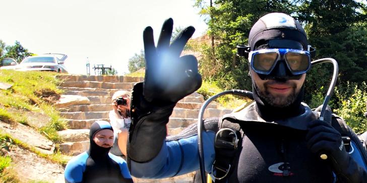 VIP kurz potápění na lomu Srní s individuálním přístupem