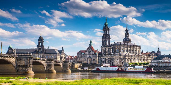 Jednodenní výlet vlakem do Drážďan s možností plavby lodí do Pillnitz