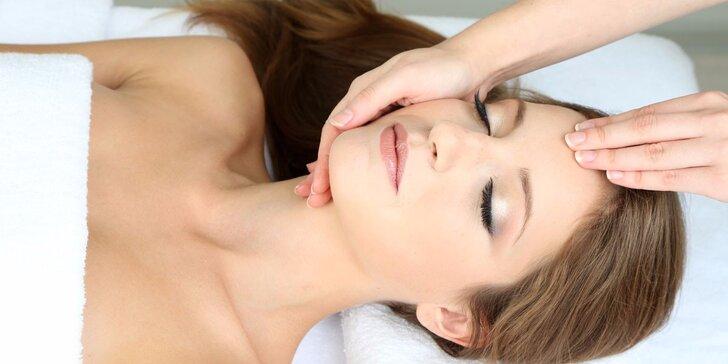 Kosmetické ošetření pleti vč. úpravy obočí a masáží obličeje
