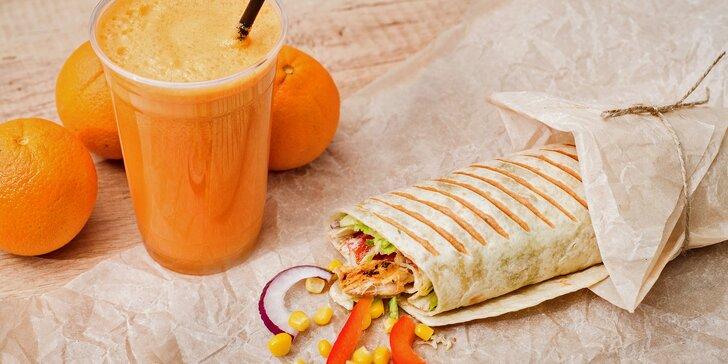 Nakopněte svůj den: Velký fresh juice a zdravá tortilla pro dva v centru Brna