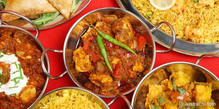 Na skok do Orientu: indické thali neboli mix specialit pro dvě osoby