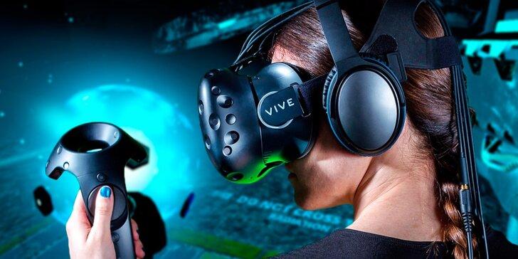 Přeneste se do jiných světů: 60 minut virtuální reality pro 1 nebo 2 hráče