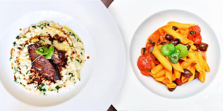 Takhle chutná Itálie: 5chodové degustační menu a sklenka vína pro dva