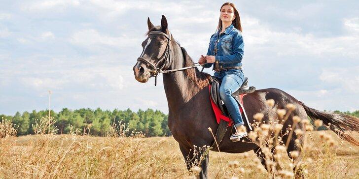 Vyjížďky v koňském sedle pro zkušené jezdce i začátečníky včetně dětí