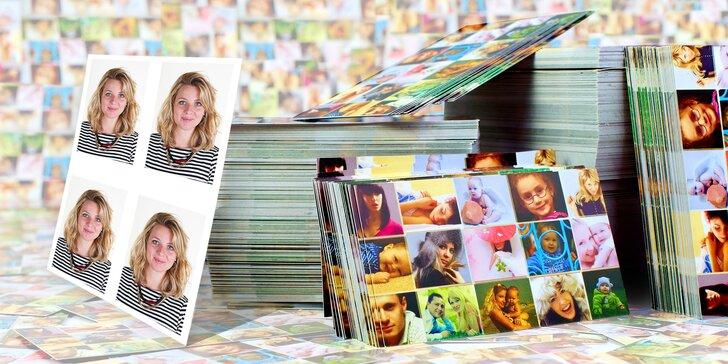 Průkazové fotky na doklady nebo vyvolání 50–100 fotografií formátu 10 x 15 cm
