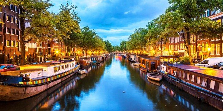 Kosmopolitní Amsterdam plný muzeí: 3–4 dny v hotelu se snídaní pro dva
