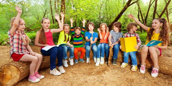 14denní dětský letní tábor v přírodě nedaleko Brněnské přehrady a hradu Veveří