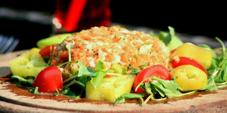 Zdravá pochoutka bez masa: Vegetataráček s topinkami a 2 drinky