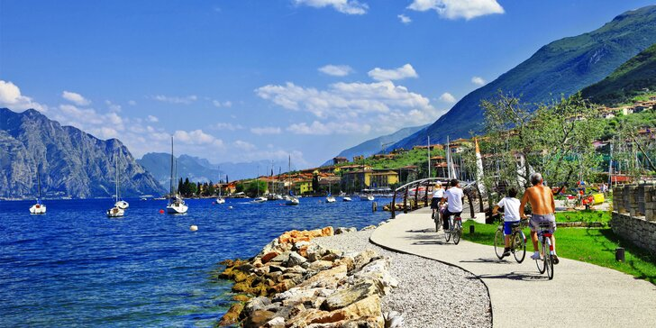 Cyklisté, hurá do Itálie: 5denní zájezd k jezeru Lago di Garda včetně polopenze