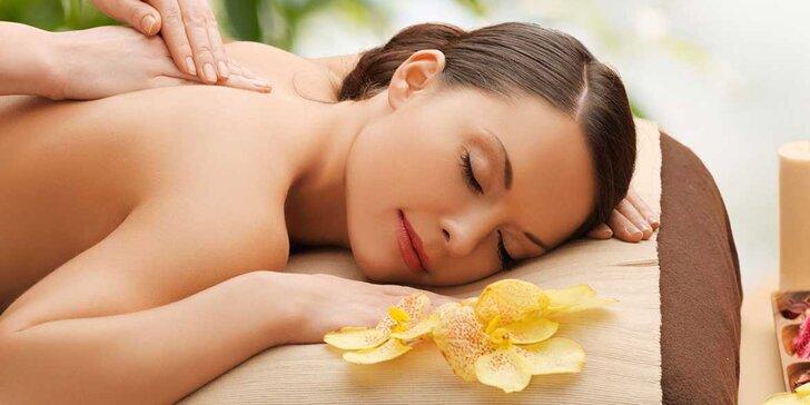 90 minut relaxace – výběr z 6 druhů luxusních a exotických masáží