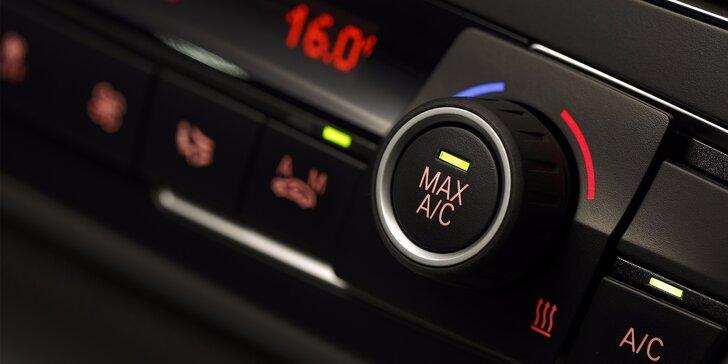 Kontrola, čištění a plnění klimatizace nebo dezinfekce interiéru vozu ozónem