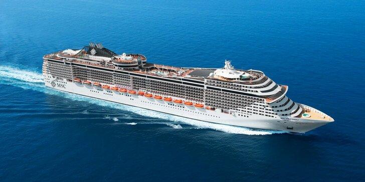 Záloha na 18denní výletní plavbu z Itálie napříč Středomořím do exotické Dubaje