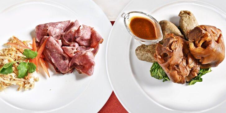 Nedělní obědové menu podávané po celý den: 3 chody dle výběru pro 1 či 2