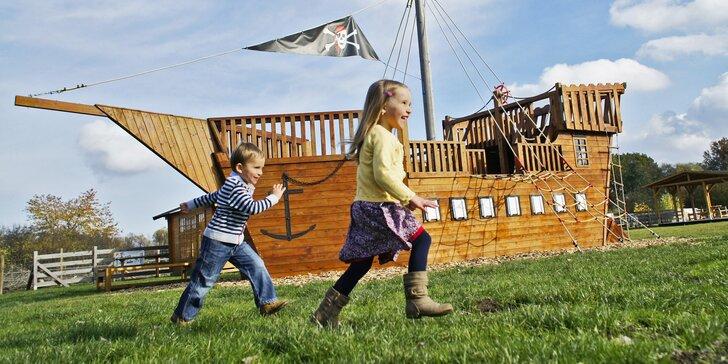 S dětmi do Herolandu: vstup do herního parku se spoustou atrakcí a minizoo