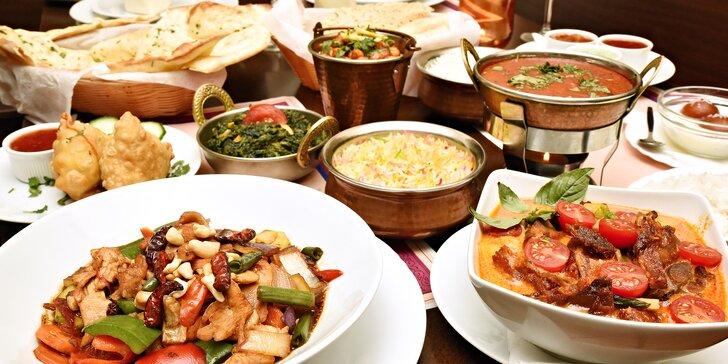 Indicko-thajské menu pro 2 osoby: speciality poskládané dle vašeho výběru