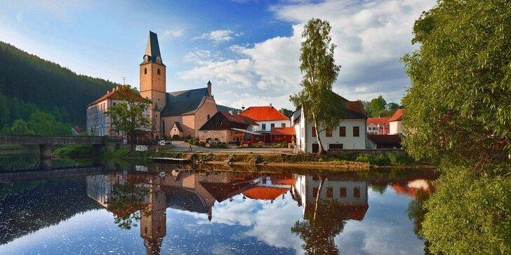 Romantika na jihu Čech se skvělým jídlem i s možností wellness pro dva