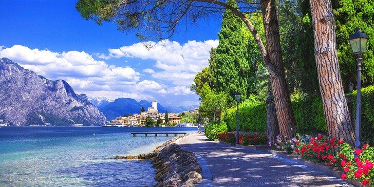 Srpen až říjen u italského jezera Lago di Garda: hotel s polopenzí a bazénem