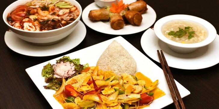 Chutné polední menu z čerstvých surovin pro 1 či 2 v stylové vietnamské restauraci