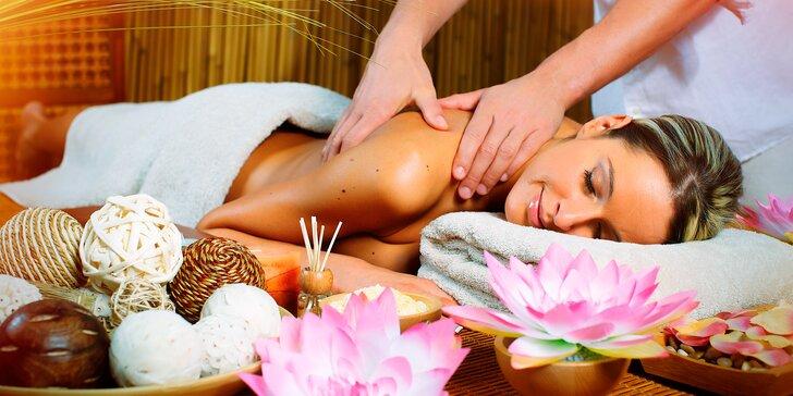 Uvolněte se: aroma, thajská, kokosová či párová masáž + zahřátí v infrasauně