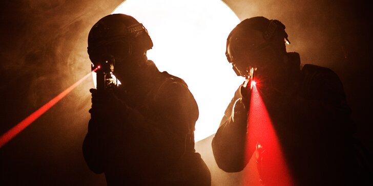 S partou na akci plnou adrenalinu: Laser game až pro 8 hráčů