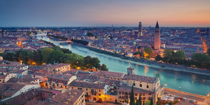 Romantika v italské Veroně: pobyt pro 2 v luxusním hotelu ve městě Romea a Julie