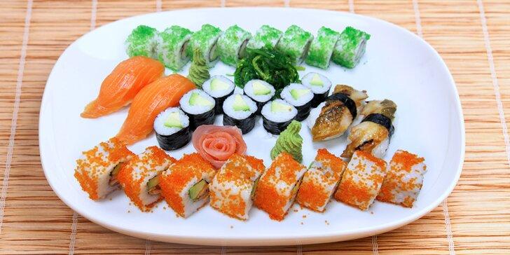Exotická pochoutka: pestré sushi sety pro labužníky s 28 nebo 32 kousky