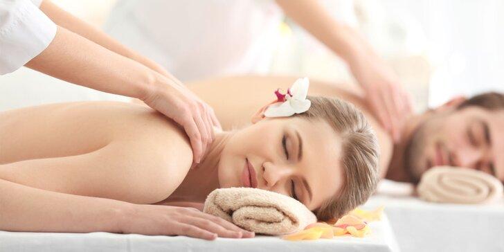 Klasická masáž pro jednoho nebo pár: záda a šíje, případně i nohy či celé tělo