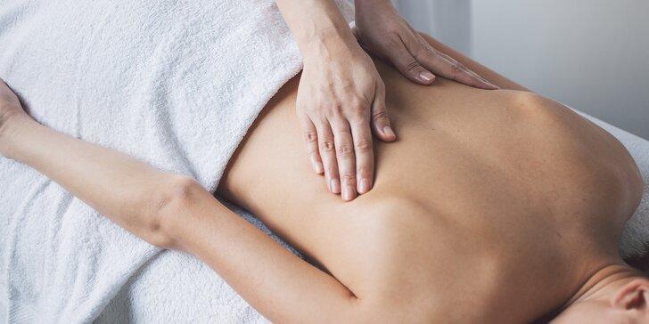 Léčivá masáž páteře, bolavých ramen i rukou spojená s inhalací kyslíku