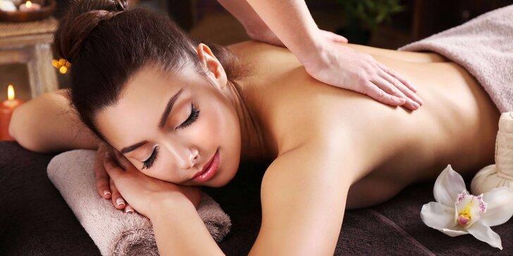 Nechte se hýčkat - 40minutová relaxační masáž zad, krku a šíje