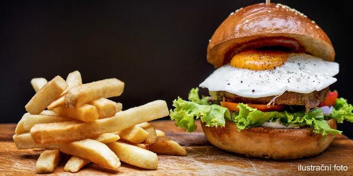 The Barr zve na Žižkov: Burger pro jednoho nebo klidně pro 4 i s hranolky