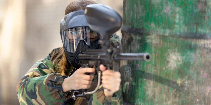 4 hodiny paintballu na tankodromu v Kroměříži vč. výbavy a střeliva
