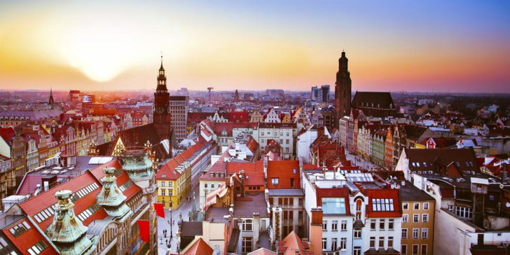 Wroclaw - jedno z nejstarších měst Polska rozkládající se na ostrovech řeky Odry
