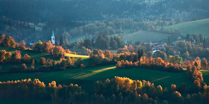 Pohodový podzim na Šumavě: 2, 3 nebo 4 dny v Hartmanicích s polopenzí