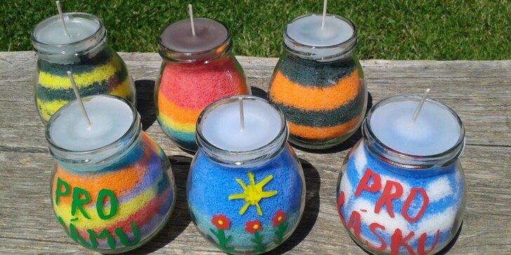 Letní výroba svíček s éterickým olejem citronella