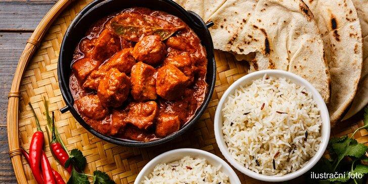 Okořeňte si život: Tříchodové indické menu, které potěší 2 gurmány