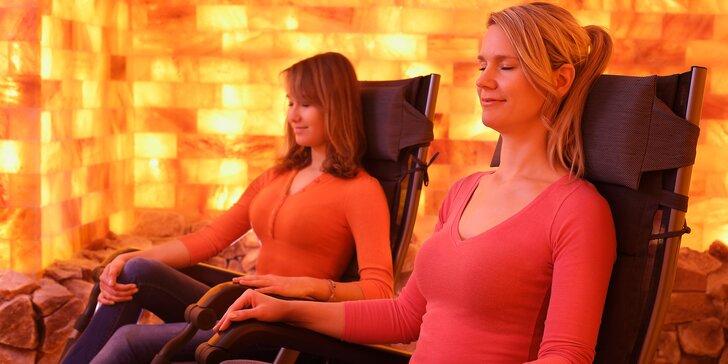 Odpočinek v solné jeskyni: dva 45minutové vstupy nebo párová 60minutová masáž