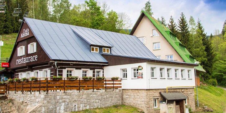 Relax v Krkonoších pro 2 i rodiny s dětmi: Příjemná chata se snídaněmi či polopenzí