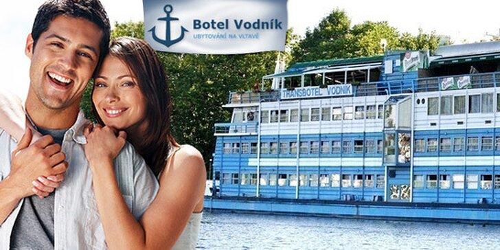 3denní dovolená pro dva v Praze na Botelu Vodník