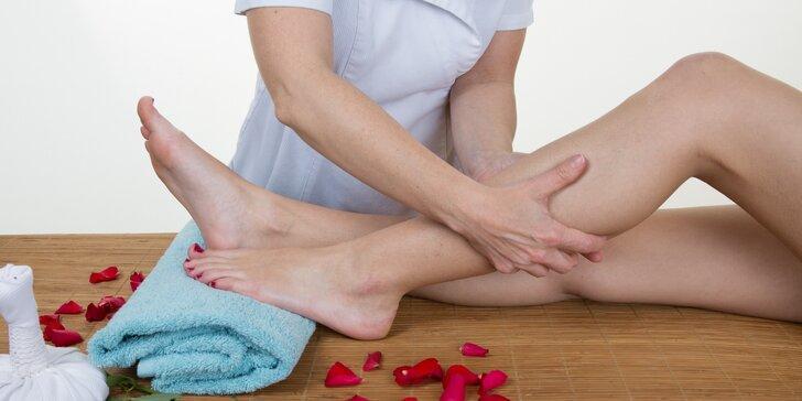 50minutová uvolňující manuální lymfatická masáž nohou