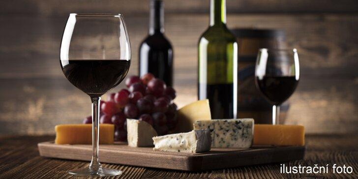 Řízená degustace vína s výkladem sommeliera vč. občerstvení pro 2