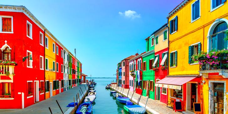 Italské Benátky a ostrov Burano, vyhlášený krajkami a rybími specialitami