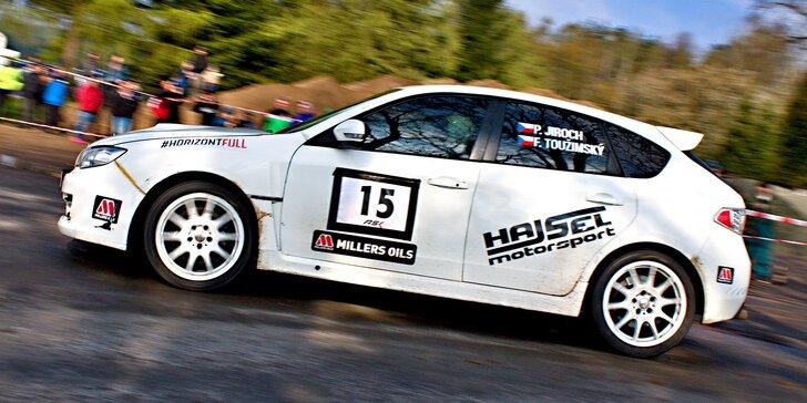 Jako rallye jezdec: 6 kol v závodním Subaru WRX STi na okruhu v Dlouhé Lhotě