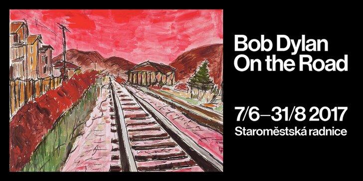 On the Road: Vstupenka na výstavu grafik Boba Dylana ve Staroměstské radnici