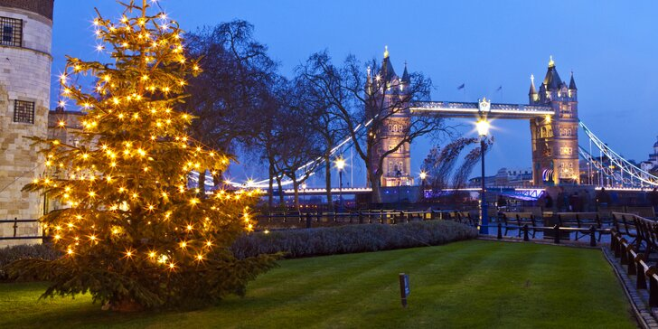 Adventní Londýn letecky z Prahy a Brna s průvodcem: vánoční trhy a nákupy