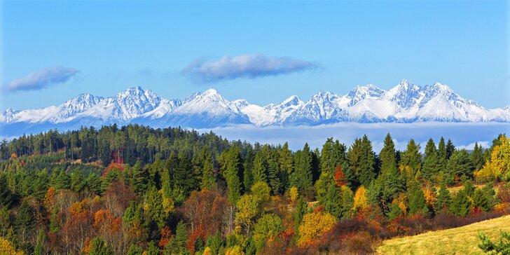 Podzimní relax a turistika ve Vysokých Tatrách s polopenzí a wellness pro dva