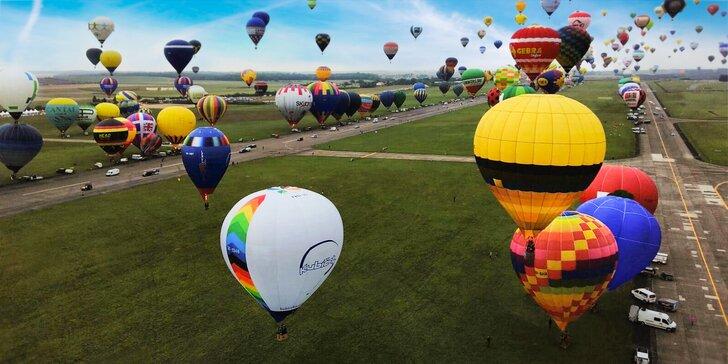 Nezapomenutelný zážitek: 1hod. vyhlídkový let v letce horkovzdušných balónů