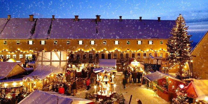 Kouzlo saských Vánoc: trhy na hradu Königstein a plavba Saským Švýcarskem